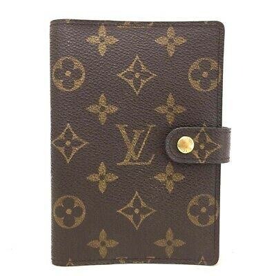 100% Authentic Louis Vuitton Monogram Agenda PM Notebook Cover /ee120