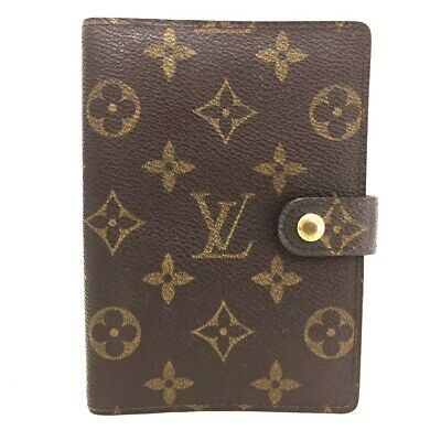 100% Authentic Louis Vuitton Monogram Agenda PM Notebook Cover /ee123