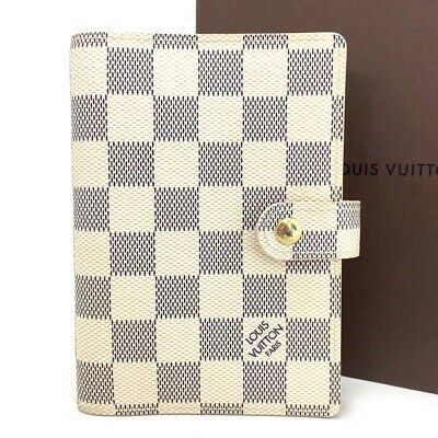 Authen Louis Vuitton Damier Azur Agenda PM Notebook Cover /ee156