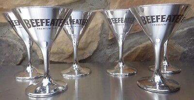 6 Beefeater martini glasses