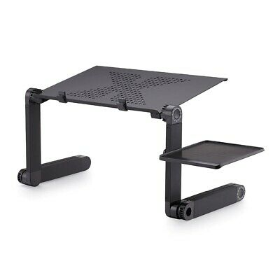 "Portable Table Stand Standing Desk Holder Aluminum Bed Tray for 17"" Laptop H8Q7"