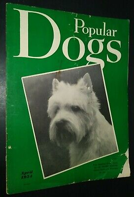 Popular Dogs Illustrated Magazine West Highland White Terrier Cover Apr 1954