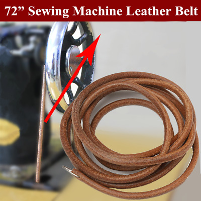 """72/"""" Leather Belt For All Treadle Sewing Machines 1//4/"""" Wide"""