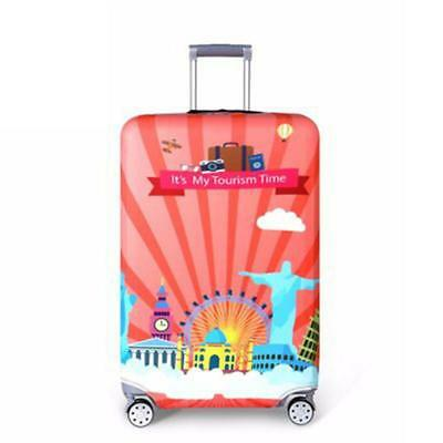 Colorful Printed Elastic Luggage Protective Dust Case Travel Suitcase Cover N3