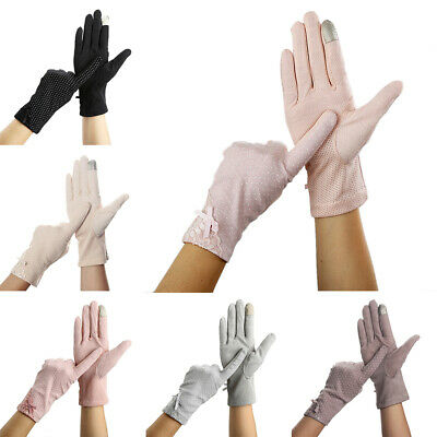 Thin Sunscreen Non-slip Fashion Gloves Windproof Lace Driving Girl Lady Women
