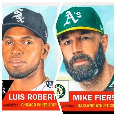 2020 Topps Living Set Bundle #297 Luis Robert RC  #298 Mike Fiers Rookie