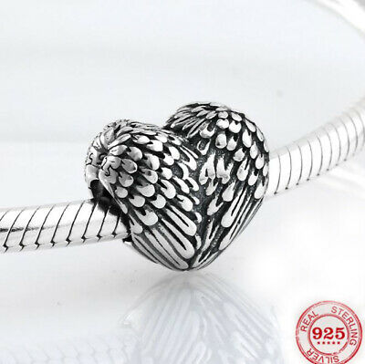 Authentic 925 Sterling Silver pandora charms angel wing heart shape beads Charm