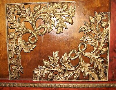 "2 antique corner architectural salvage cast iron 15 x 13"" Oak leaf 1900 house"