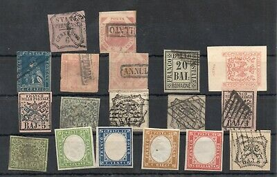Old classic stamps of ITALY used/MLH collection 18 piece