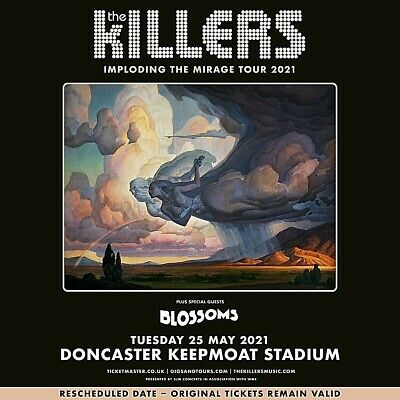 Killers Fridge Magnet Imploding The Mirage Tour 25 May 2021 Doncaster Souvenir