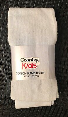 Brand new Country Kids girl's pale blue tights size 11-13 y