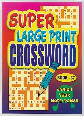 4 Super Large Print Crossword Books 76 Puzzles In Each A4 Books 37- 38-39 & 40