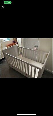 Mamas And Papas Baby Cot Bed & Deluxe Memory foam Mattress
