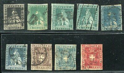 FE328) Italy old stamps Toscane Tuscany Lion no res !
