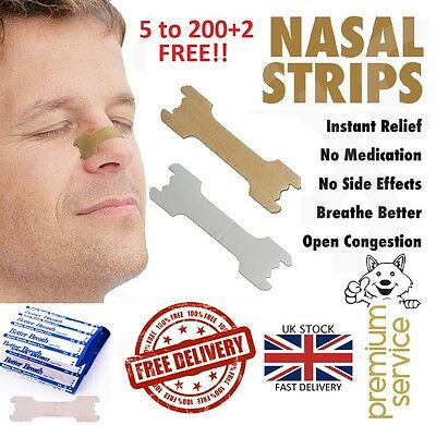 5 - 200 Better Breath Nasal Strips Right Aid Stop Anti Snoring Easy Free Iii