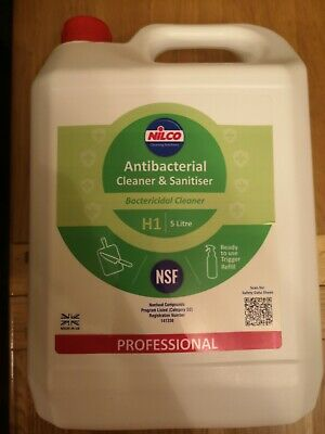 Nilco Professional Antibacterial Cleaner & Sanitiser Cleaning Solution 5 Litres
