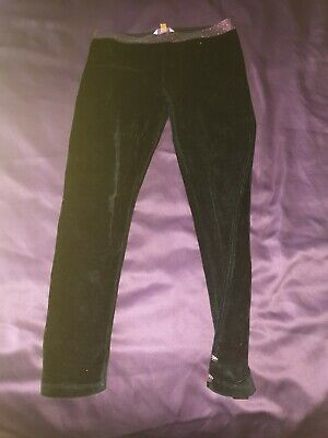 Girls Black Velour Sparkly Trousers Age 8-9 Years From Ted Baker
