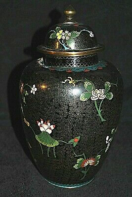 Antique Chinese Cloisonne Ginger Jar Marked China Late 19th or 20th Century