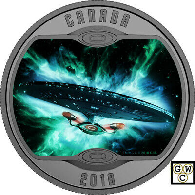 2018Star Trek(TM):The Next Generation' Prf $10 Fine Silver 1/2oz.Coin(18381)OOAK