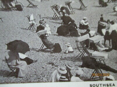 Southsea Beach Antique Edwardian Rp Postcard Posted Portsmouth  July 1909