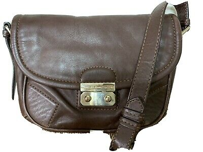Marc By Marc Jacobs Brown Leather Shoulder Crossbody Purse