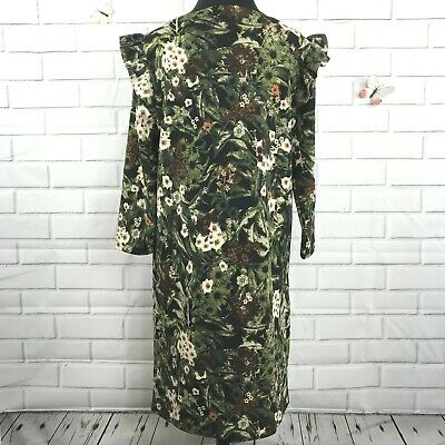 Philosophy Republic Clothing Floral Long Sleeve Ruffle Dress Women Medium E116