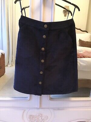 Joules Navy Ladies Cord Skirt Size 8 BNWOT