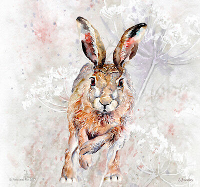Boxing Hares Glass Chopping Board//Worktop Saver Heat Resistant
