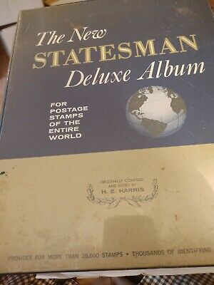 Worldwide Collection in a Battered Statesman Stamp Album No Reserve! 400+ pages!