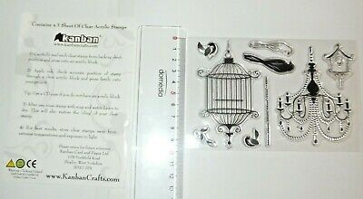 cArt-Us Clear  stamp BIRDS WITH CAGE 001883//1063 Reduced