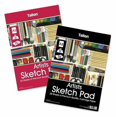 Artist A4 Sketch/Drawing Pad white 80gsm cartridge paper 120 Pages (Gummed Pad)