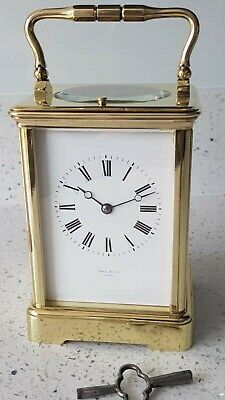 Antique French Repeater Striking Carriage Clock Hall & Co Paris E.M & Co