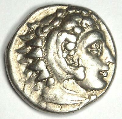 Alexander the Great III AR Drachm Coin 336 BC - Choice VF Condition - Rare!