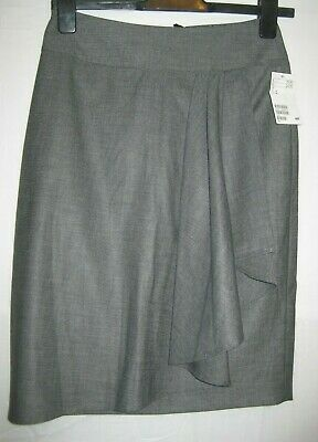 H&M grey lined work/office pencil skirt size 10.