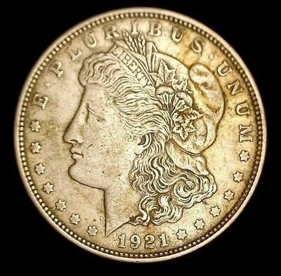 1921 D US Morgan Silver Dollar (C#3160)