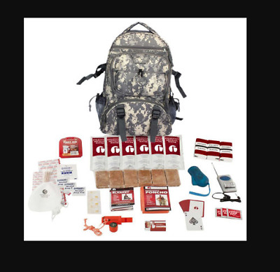 Emergency Disaster Survival Kit Camo Backpack for Camping Earthquake Hurricane