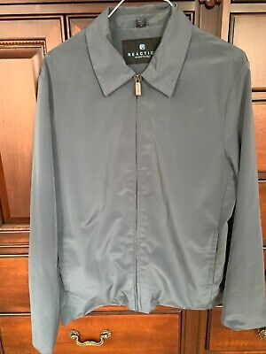 Mens Kenneth Cole Reaction Gray/Blue Polyester Jacket Size Medium