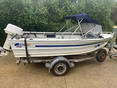 Quintrex 4.2 metre runabout w 30 hp Johnson priced to sell