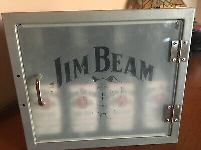 Jim Beam, Wall Mounted, x4 Bottle Holder/Case, Rare, Collectables,