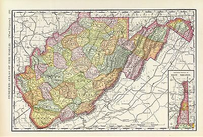 140 maps WEST VIRGINIA state atlas PANORAMIC old genealogy HISTORY DVD