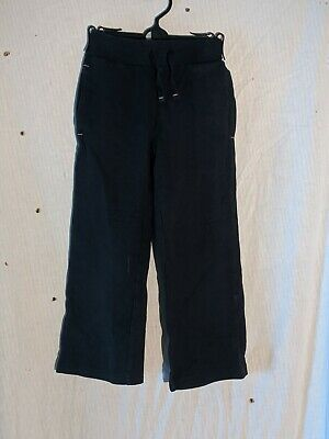 George Black Straight Legged Jogging Bottoms Tie Elasticated Waist  Age 4-5