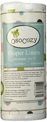 OsoCozy Flushable Diaper Liners - Make Cloth Diapering Convenient with Easy Q...