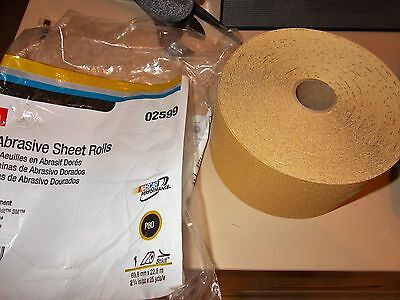 3M 02599 Stikit 80 Grit Continuous Abrasive Gold Sheet Roll