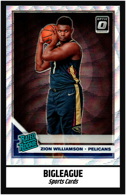 2019-2020 Optic Basketball Zion Williamson SILVER WAVE Rated Rookie #158