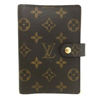 100% Authentic Louis Vuitton Monogram Agenda PM Notebook Cover /o473