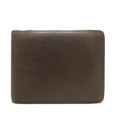 Auth Louis Vuitton Taiga Portefeiulle Florin Grizzly Leather Bifold Wallet /o493