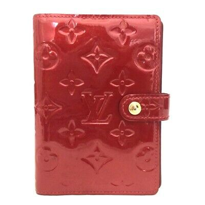 100% Authentic Louis Vuitton Monogram Vernis Agenda PM Notebook Cover /o509