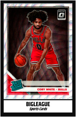 2019-2020 Optic Basketball Colby White SILVER WAVE Rated Rookie Bulls #180