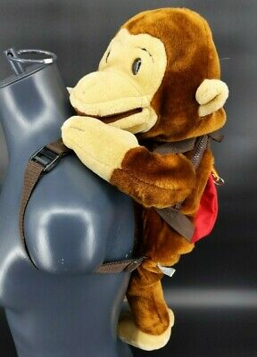 "25"" Curious George Plush Stuffed animal backpack puppet By WILDKIN Vintage Kids"
