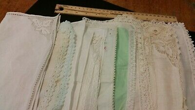 Lot of 11 Misc Vintage Ladies Handkerchiefs Embroidered
